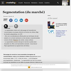 Segmentation (du marché)