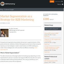 Market Segmentation as a Strategy for B2B Marketing