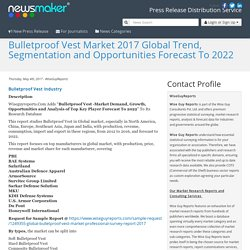 Bulletproof Vest Market 2017 Global Trend, Segmentation and Opportunities Forecast To 2022