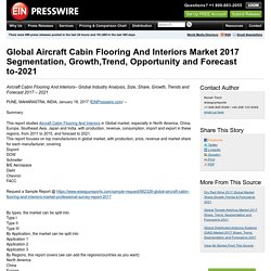 Global Aircraft Cabin Flooring And Interiors Market 2017 Segmentation, Growth,Trend, Opportunity and Forecast to-2021