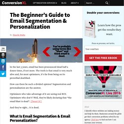The Beginner's Guide to Email Segmentation & Personalization