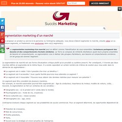 Segmentation de marché en marketing: groupes d'acheteurs potentiels