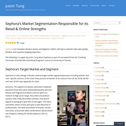 Sephora's Market Segmentation Responsible for its Retail & Online Strengths