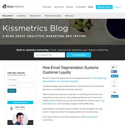 How Email Segmentation Sustains Customer Loyalty
