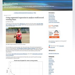 Using segmented regression to analyse world record running times