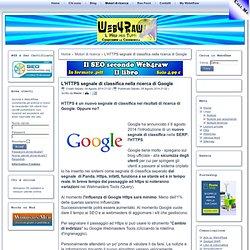 L'HTTPS segnale di classifica nella ricerca di Google