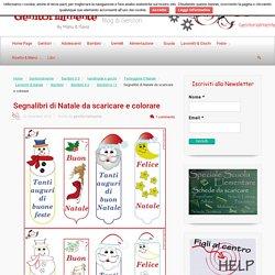 Segnalibri di Natale da scaricare e colorare