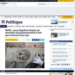 NDDL : pour Ségolène Royal, les membres du gouvernement n'ont pas à donner leur avis