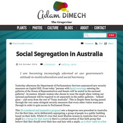 Social Segregation in Australia