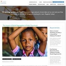 The Impact of Racial Segregation in Public Preschools