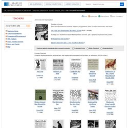 Jim Crow in America - Primary Source Set