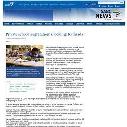 Private school segretation shocking: Kathrada:Friday 30 January 2015