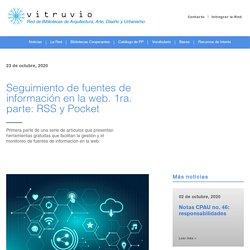 Red Vitruvio - Seguimiento de fuentes de información en la web. 1ra. parte: RSS y Pocket