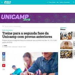 Treine para a segunda fase da Unicamp com provas anteriores