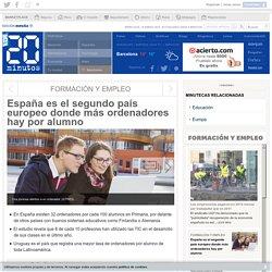 España es el segundo país europeo donde más ordenadores hay por alumno