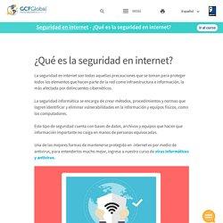 Seguridad en internet: ¿Qué es la seguridad en internet?