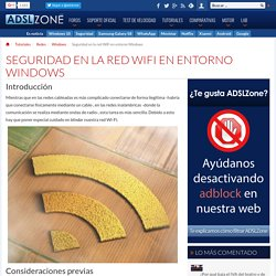 Seguridad en una red WiFi