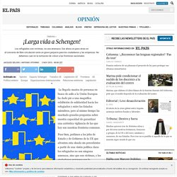 Seguridad europea: ¡Larga vida a Schengen!