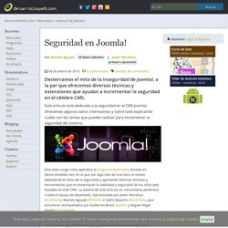 Seguridad en Joomla!