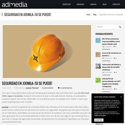 Seguridad en Joomla: ¡Si se puede!