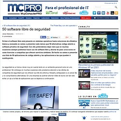 50 software libre de seguridad | MuyComputerPRO