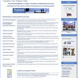 Top Sehenswürdigkeiten in Thailand - Fakten und Sehenswertes für den Urlaub