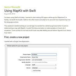 Using MapKit with Swift