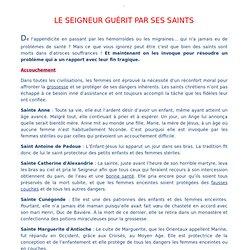 LE SEIGNEUR GUÉRIT PAR SES SAINTS