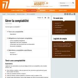 Seine-et-Marne - Gérer la comptabilité
