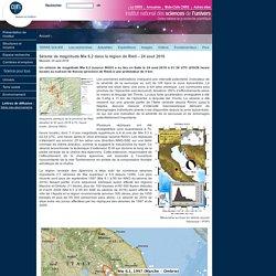 Séisme de magnitude Mw 6.2 dans la région de Rieti – 24 aout 2016