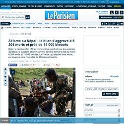 Séisme au Népal : le bilan s'aggrave à 6 204 morts et près de 14 000 blessés