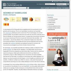SÉISMES ET SISMOLOGIE - Ondes sismiques