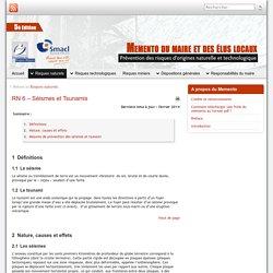 RN 6 – Séismes et Tsunamis » Mémento du maire et des élus locaux