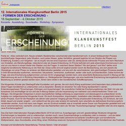 Internationales Klangkunstfest Berlin