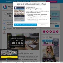 13 Seiten, die kostenlose Bilder für deinen Blog anbieten