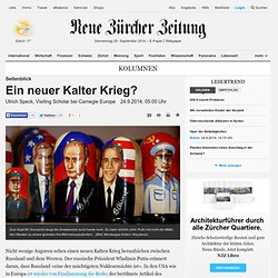 Seitenblick: Ein neuer Kalter Krieg? - Kolumnen Nachrichten