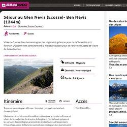 Séjour au Glen Nevis (Ecosse)- Ben Nevis (1344m)