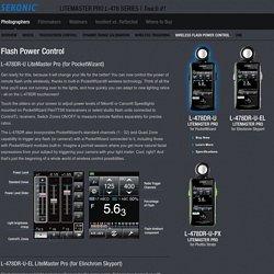 Wireless Flash Control with PocketWizard