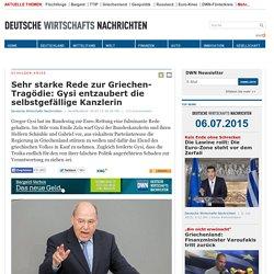 Sehr starke Rede zur Griechen-Tragödie: Gysi entzaubert die selbstgefällige K...