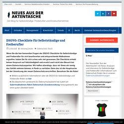 DSGVO: Checkliste für Selbstständige und Freiberufler