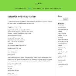 Seleccion de Haikus Clásicos - varios ejemplos de poemas