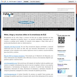 Selección de webs, blogs y recursos útiles para la enseñanza ELE