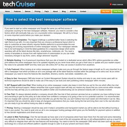How to select the best newspaper software