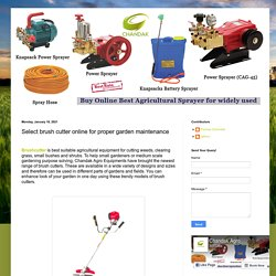 Select brush cutter online for proper garden maintenance