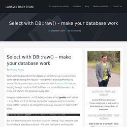 raw() - make your database work - Laravel Daily