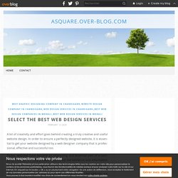 Select the best web design services