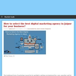 How to Select the Best Digital Marketing Agency in Jaipur
