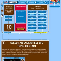 Select an English topic from the 54 topics available