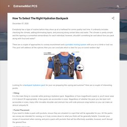 How To Select The Right Hydration Backpack