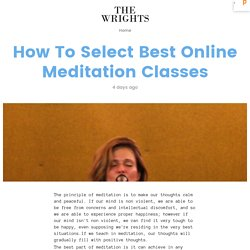 How To Select Best Online Meditation Classes